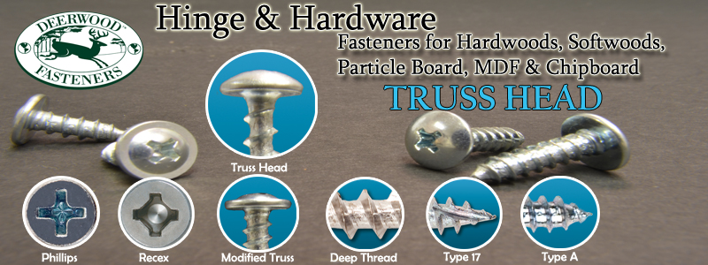 Hinge and Hardware Screws Truss Head